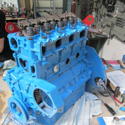 Motor tijdens revisie