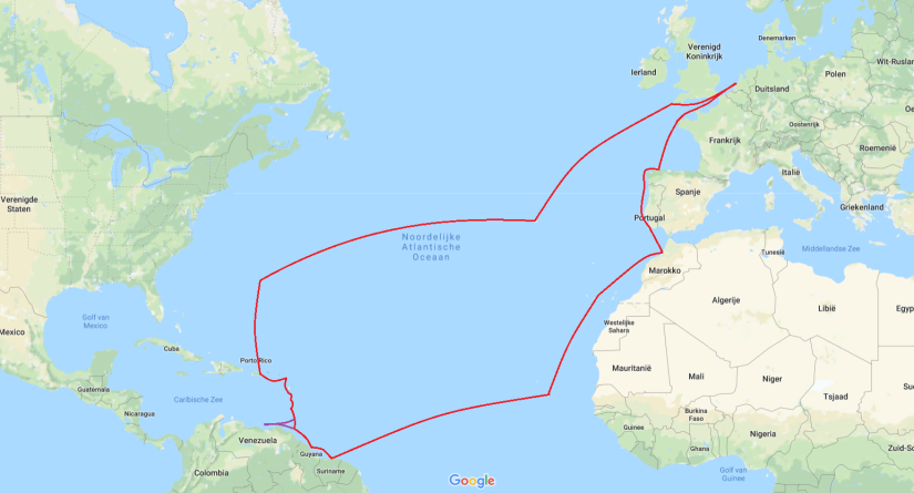 kaartje Rondje Atlantic